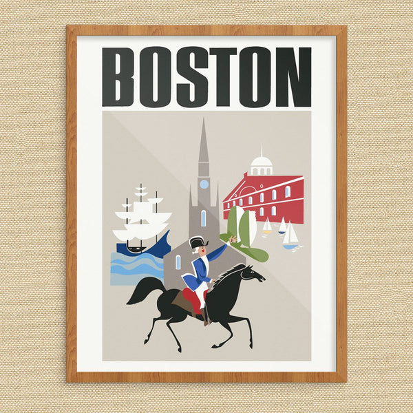 Boston's Colonial Site's Travel Poster