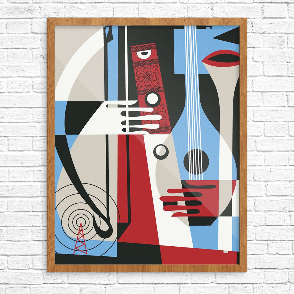 Colorful Musical Instruments Print