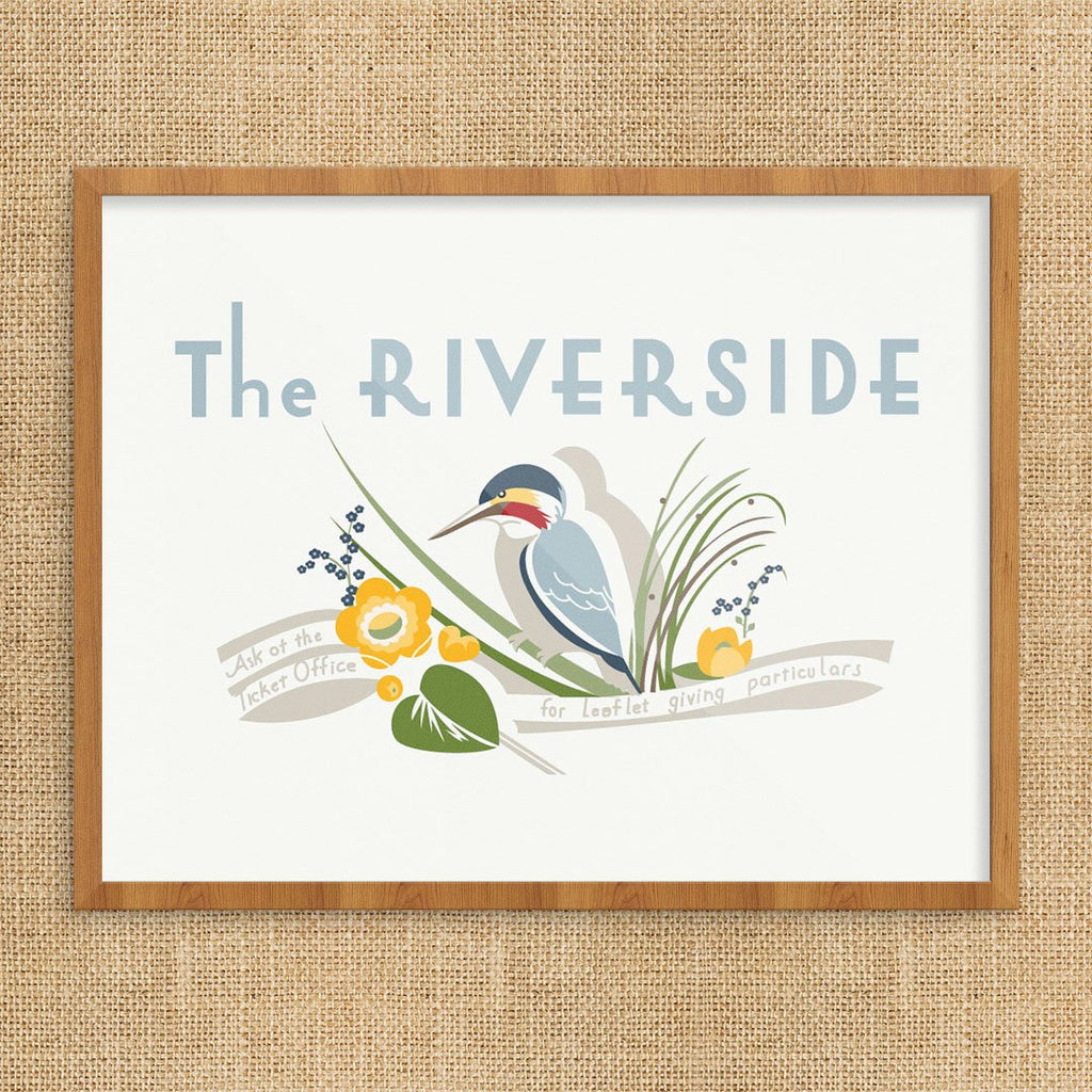 The Riverside London Transport Print