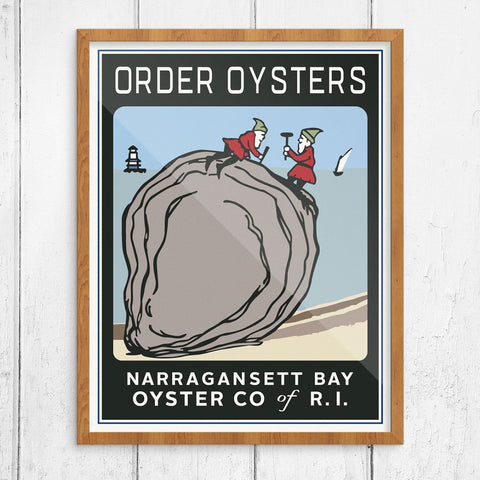 Order Oysters Narragansett Oyster Company Print