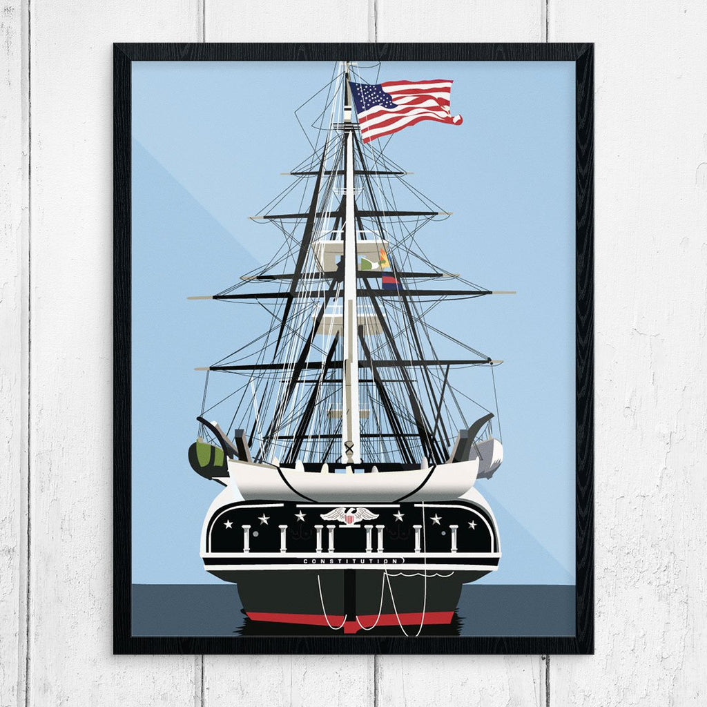 USS Constitution Old Ironsides Print