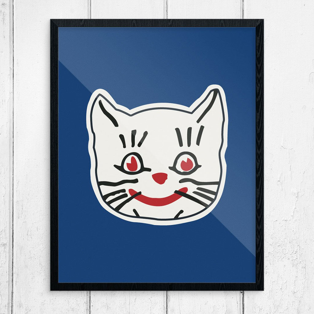 Kansaz City Katz Cute Cat face Print