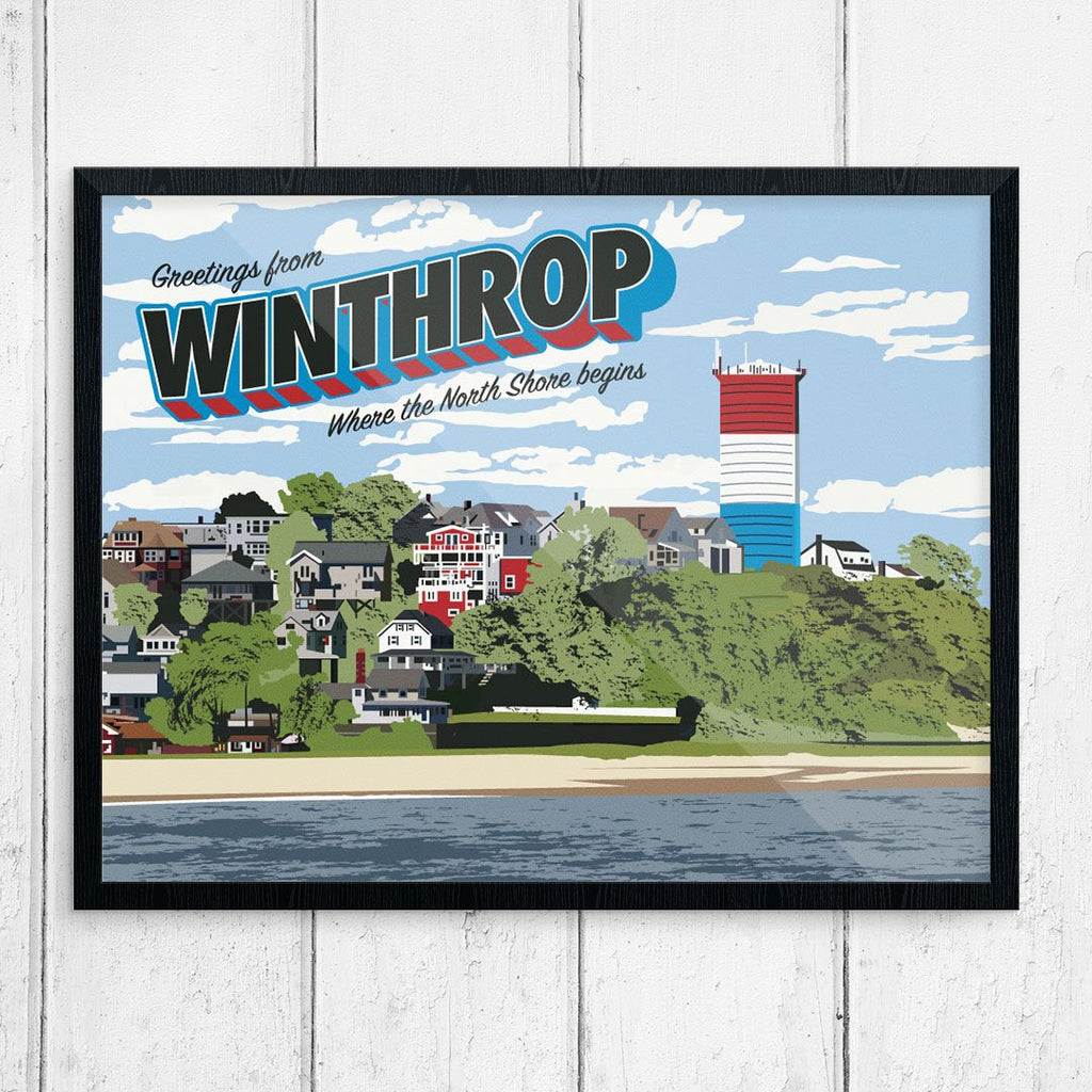 Greetings from Winthrop, MA Print