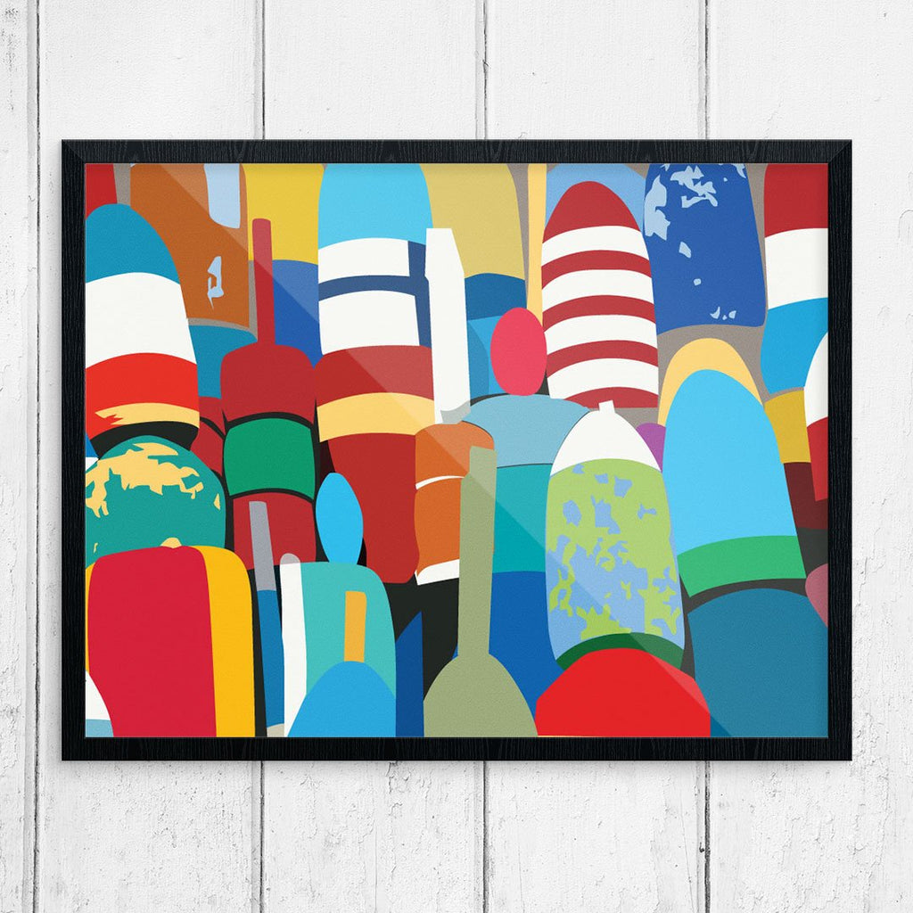 Colorful Lobster Buoys 11 x 14 Print