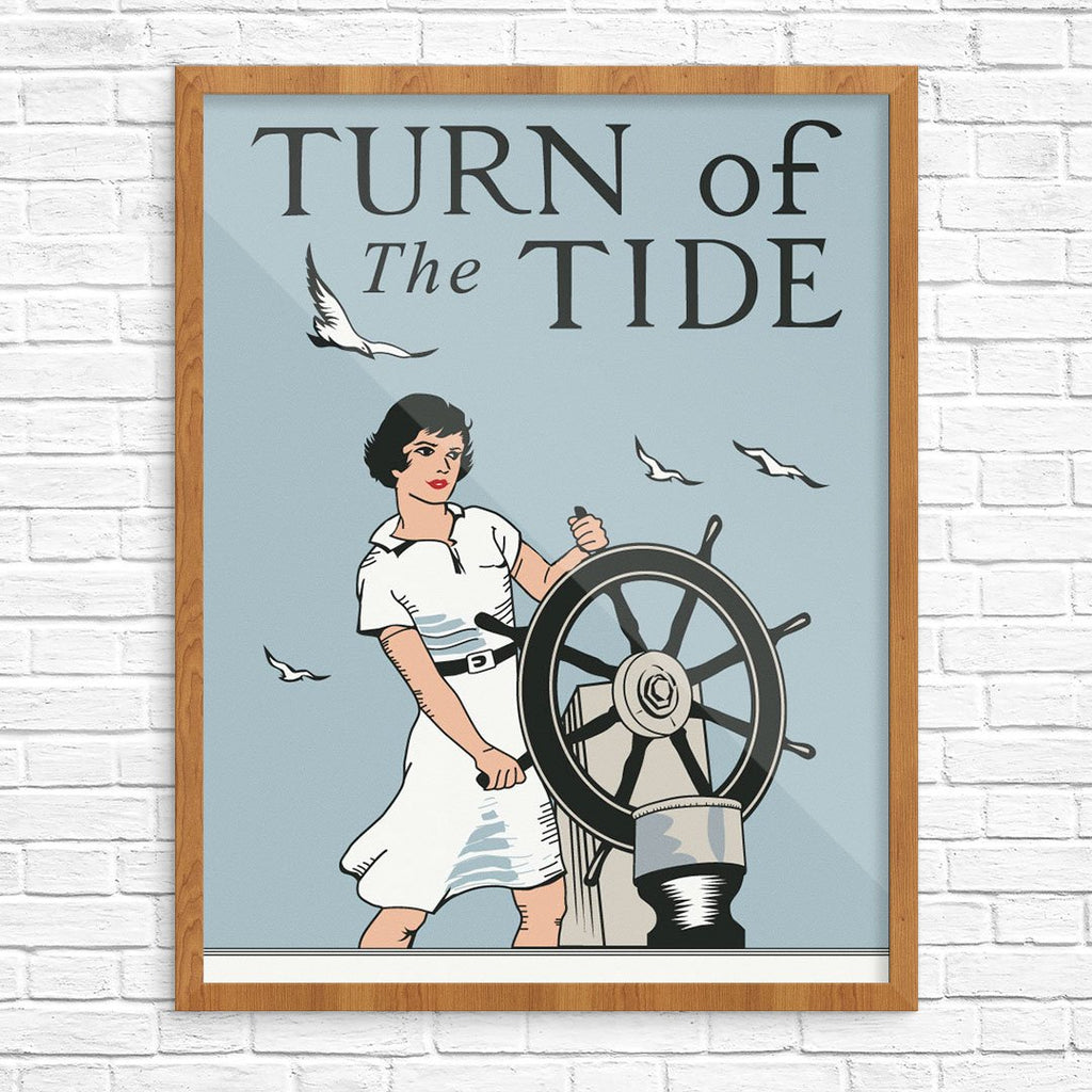 Turn of the Tide Woman Skipper Print