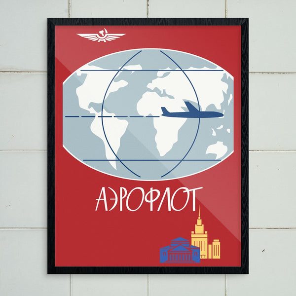 Aeroflot Russain Airline Travel Poster