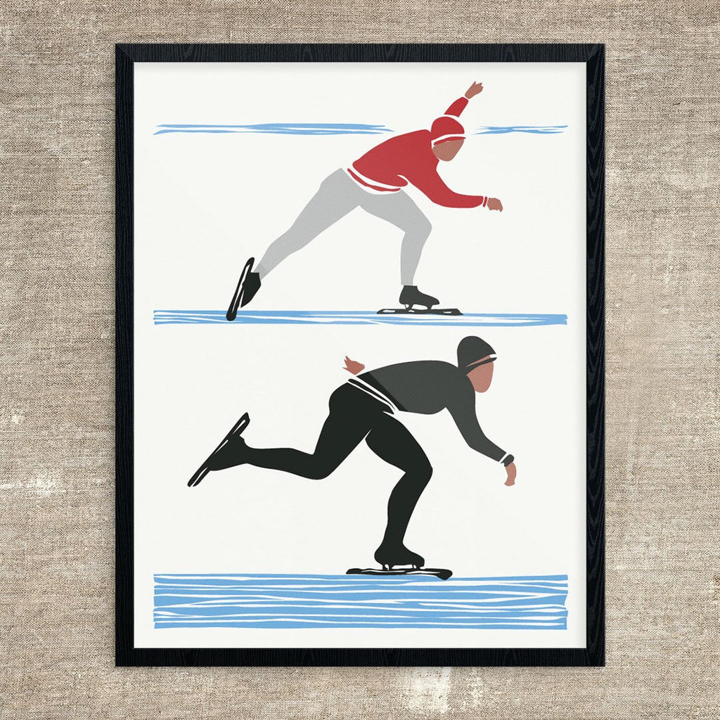 Russian Speed Skaters Print