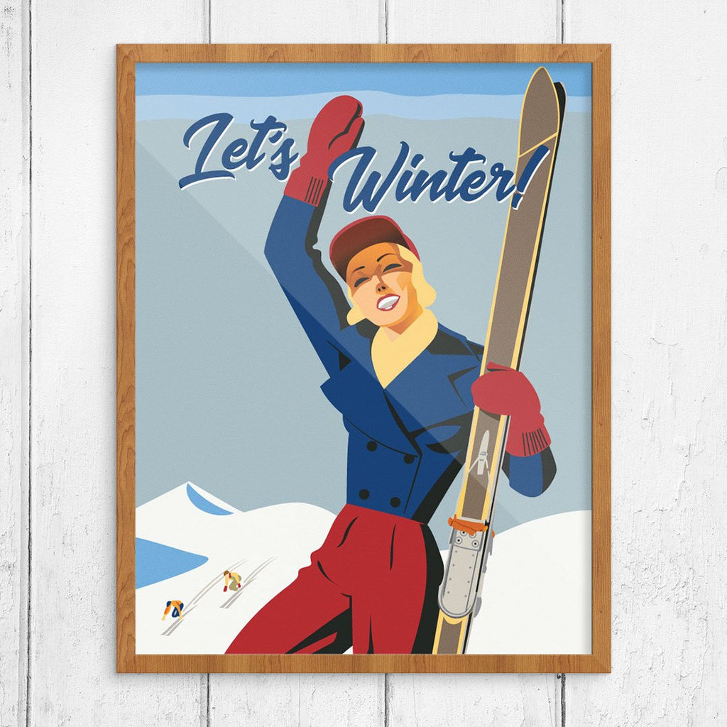 Let's Winter! Ski Poster
