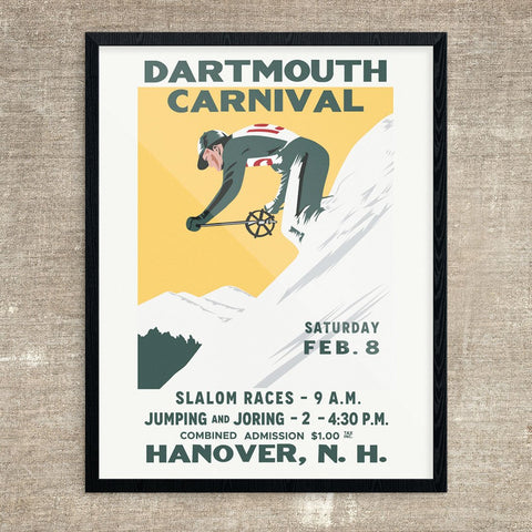 Dartmouth 1936 Winter Carnival Ski Poster