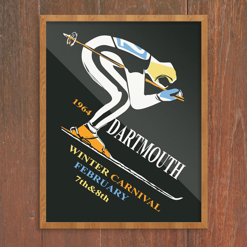 Dartmouth 1964 Winter Carnival Ski Poster