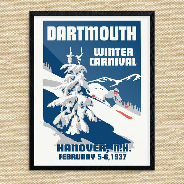 Dartmouth 1937 Winter Carnival Ski Poster