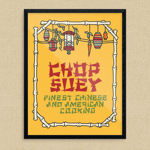 Chop Suey Classic Chinese Restaurant Sign