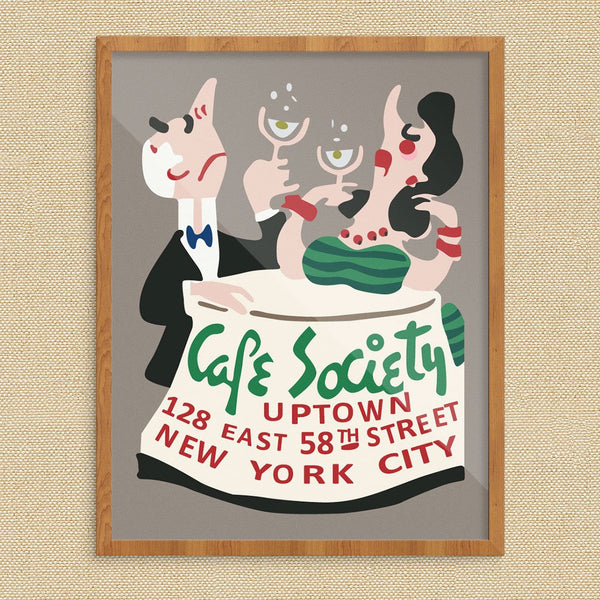 Café Society Nightclub Uptown New York City Print