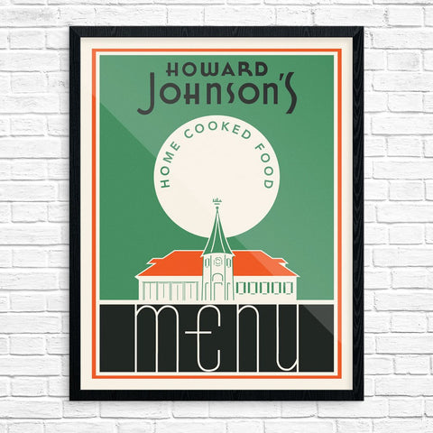 Vintage Howard Johnson's Menu Cover Print