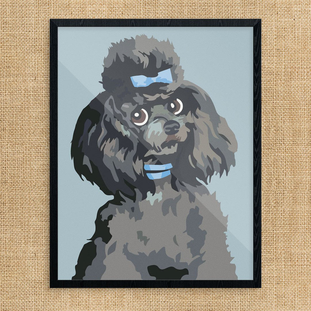 Skeptical Paint By Number Poodle Print