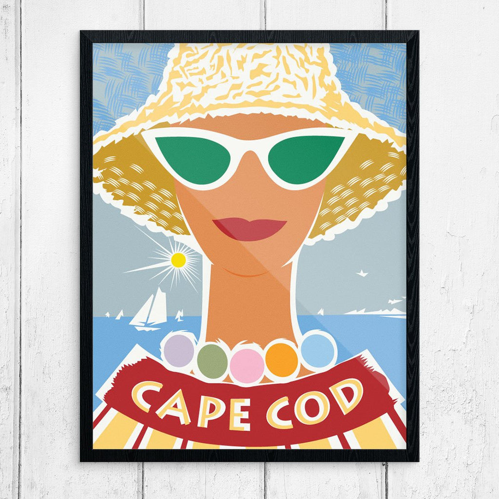 Cape Cod Sun Hat Woman Print