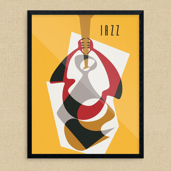 Adstract Jazz Horn Player Print