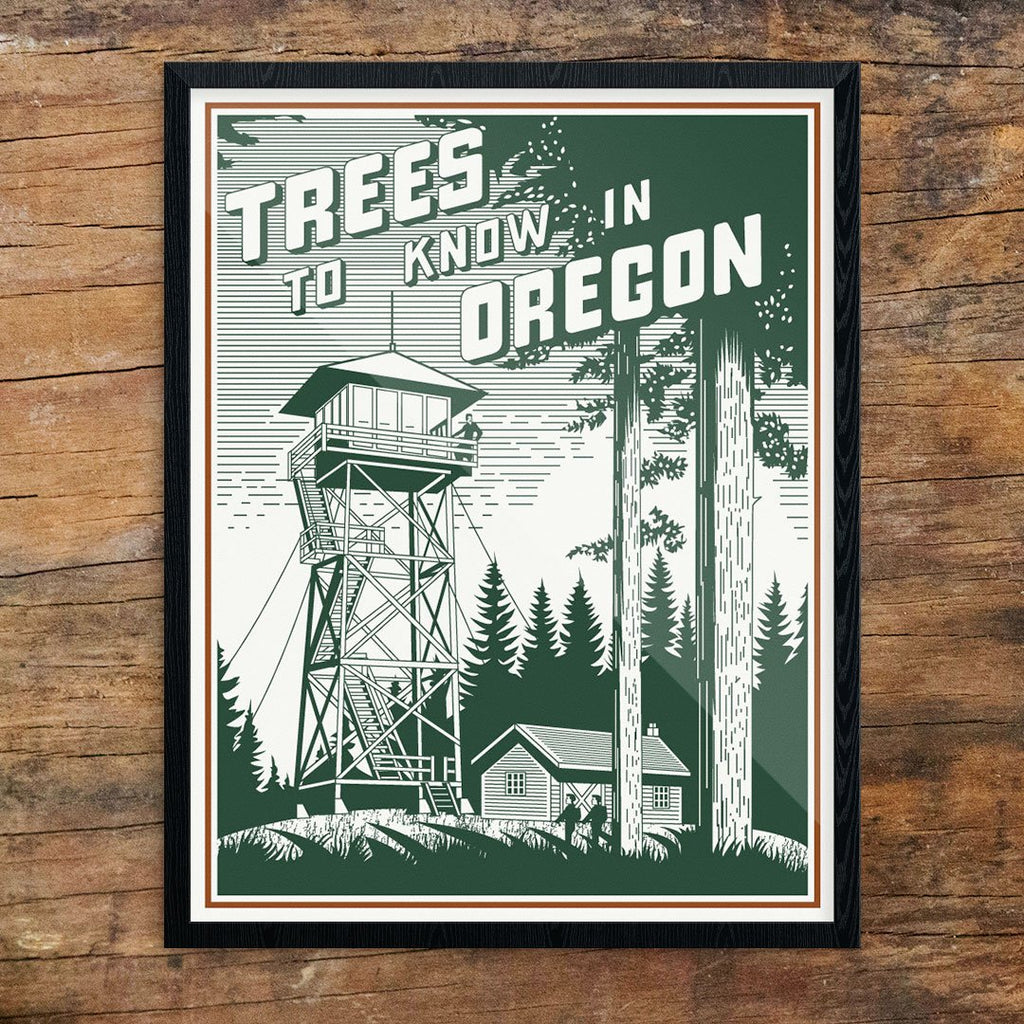 Trees to Know in Oregon Print