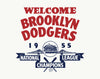 Welcome Brooklyn Dodgers Ebbets Field 1955 National League Champs Print