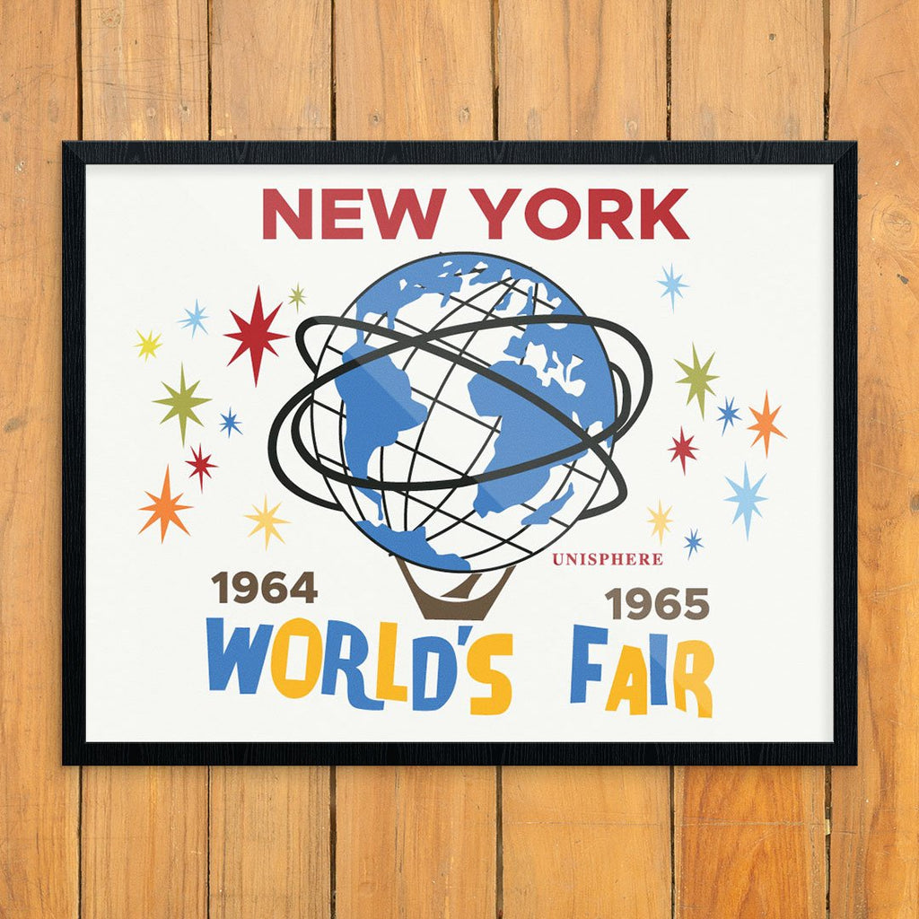 New York's 64 -64 World's Fair Unispehere Print