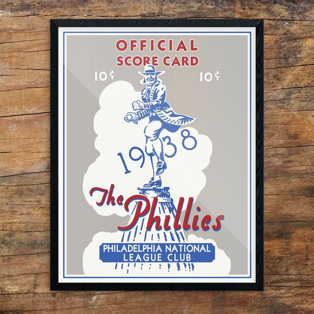 The Philadelphia Phillies 1938 Official Score Card Print
