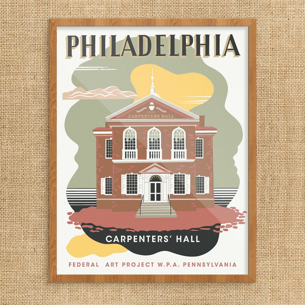 Philadelphia Carpenters Hall WPA Print