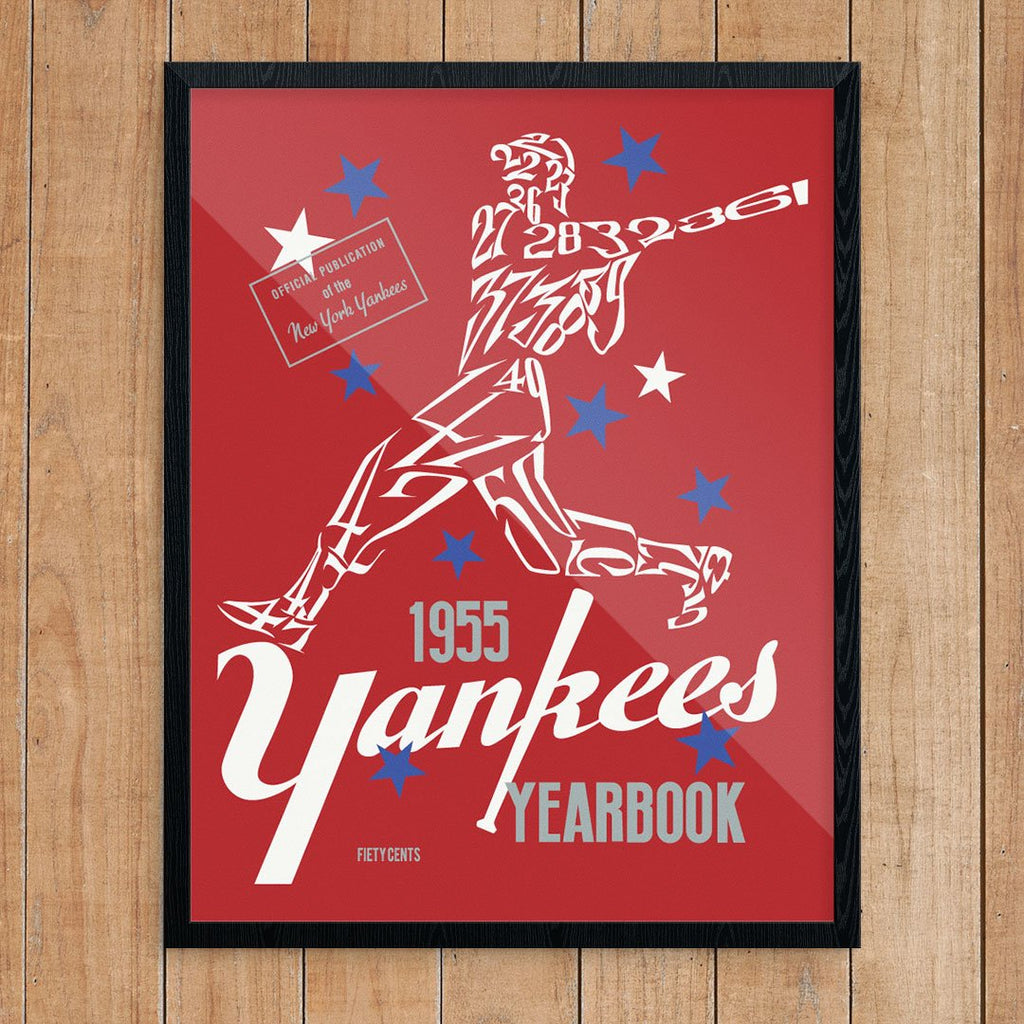 New York Yankees 1955 Yearbook Cover Print
