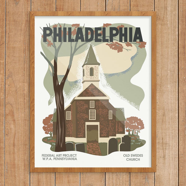Philadelphia Old Swedes Church WPA Poster