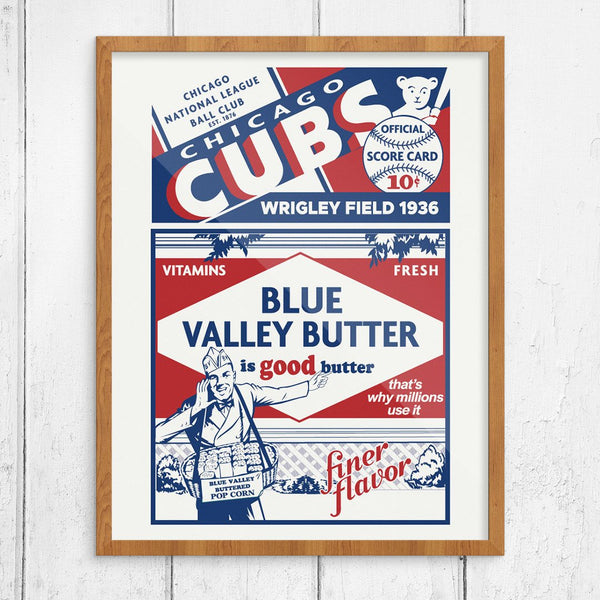 Chicago Cubs 1936 Wrigley Field Official Score Card Print