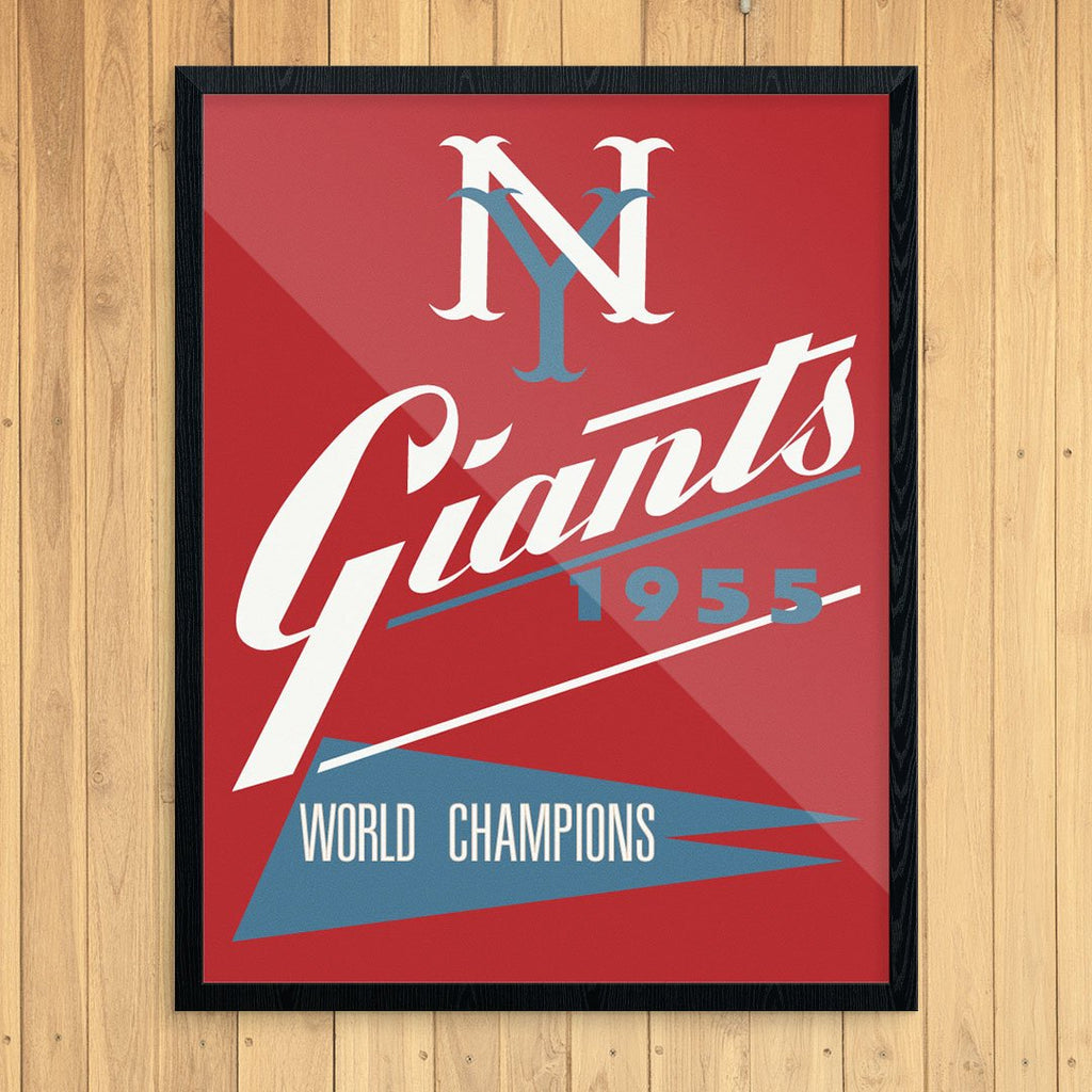 New York Giants World Champs 1955 Scorecard Print
