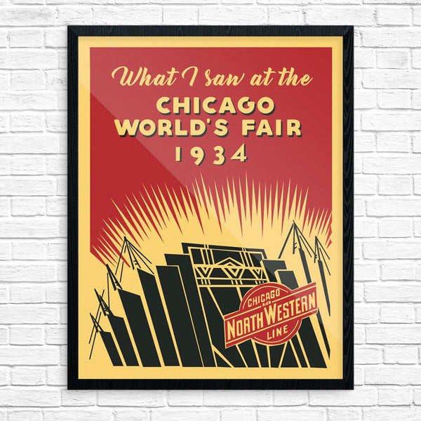 What I Saw at the 1934 Chicago World's Fair Print