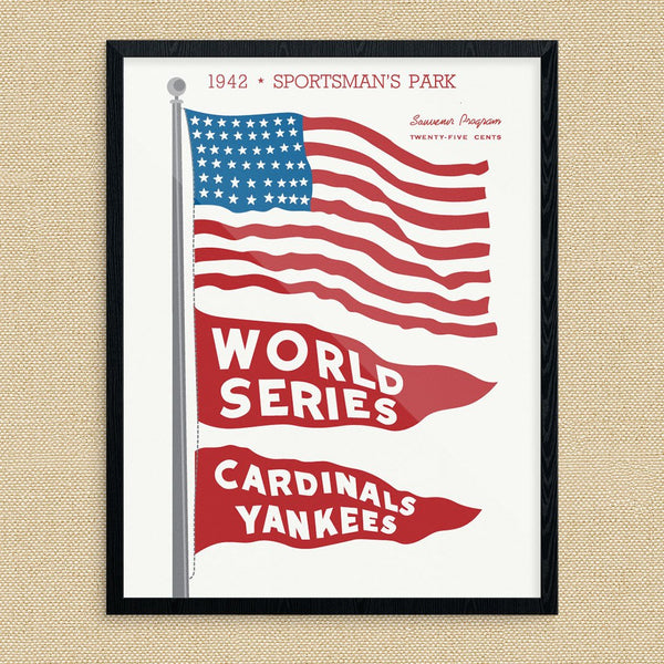 1942 World Series Cardinals Vs Yankees Print