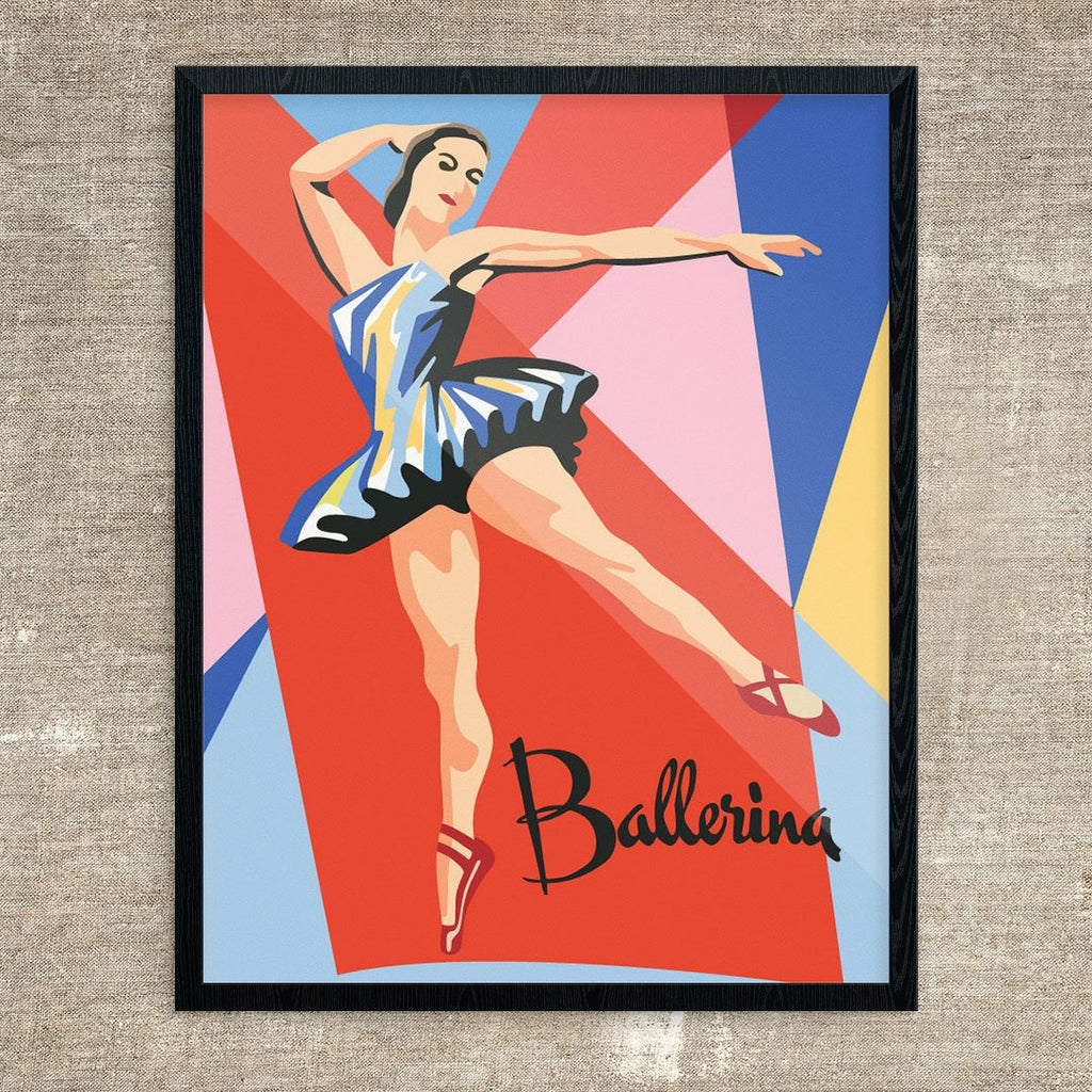 Paint By Number Ballerina in Spotlight Print