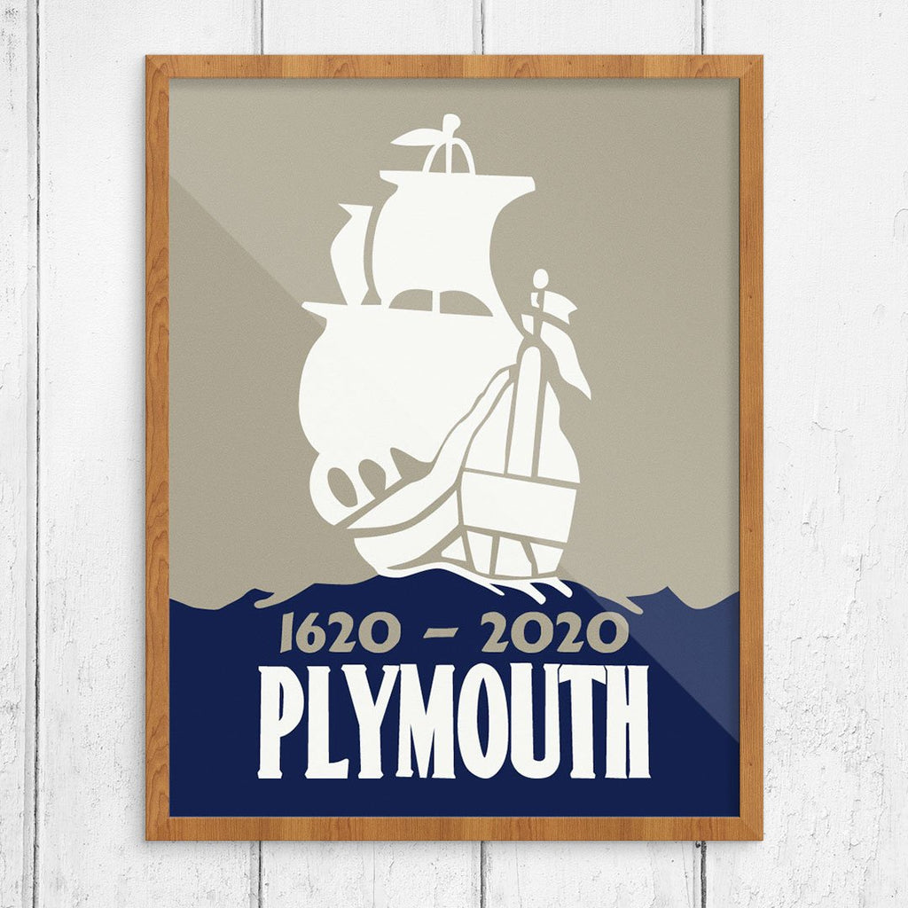 Plymouth Mayflower 1620 - 2020 Anniversary Print