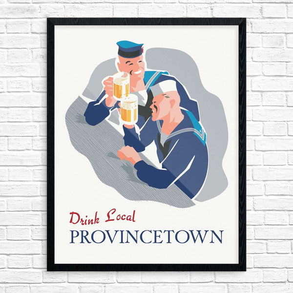 Drink Local Provincetown Drinking Sailors Print