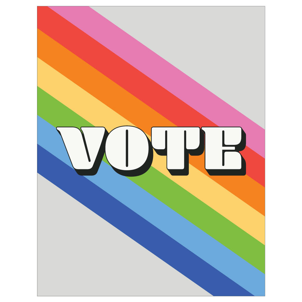 Vote Rainbow Magnet and Greeting Card
