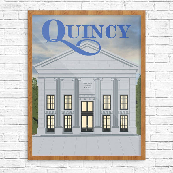 Quincy City Hall Building Print