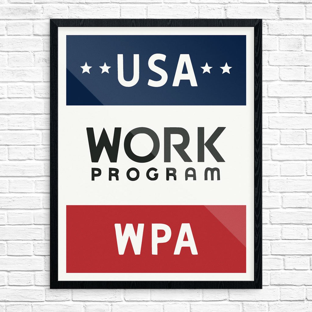 USA Work Program WPA Poster Print