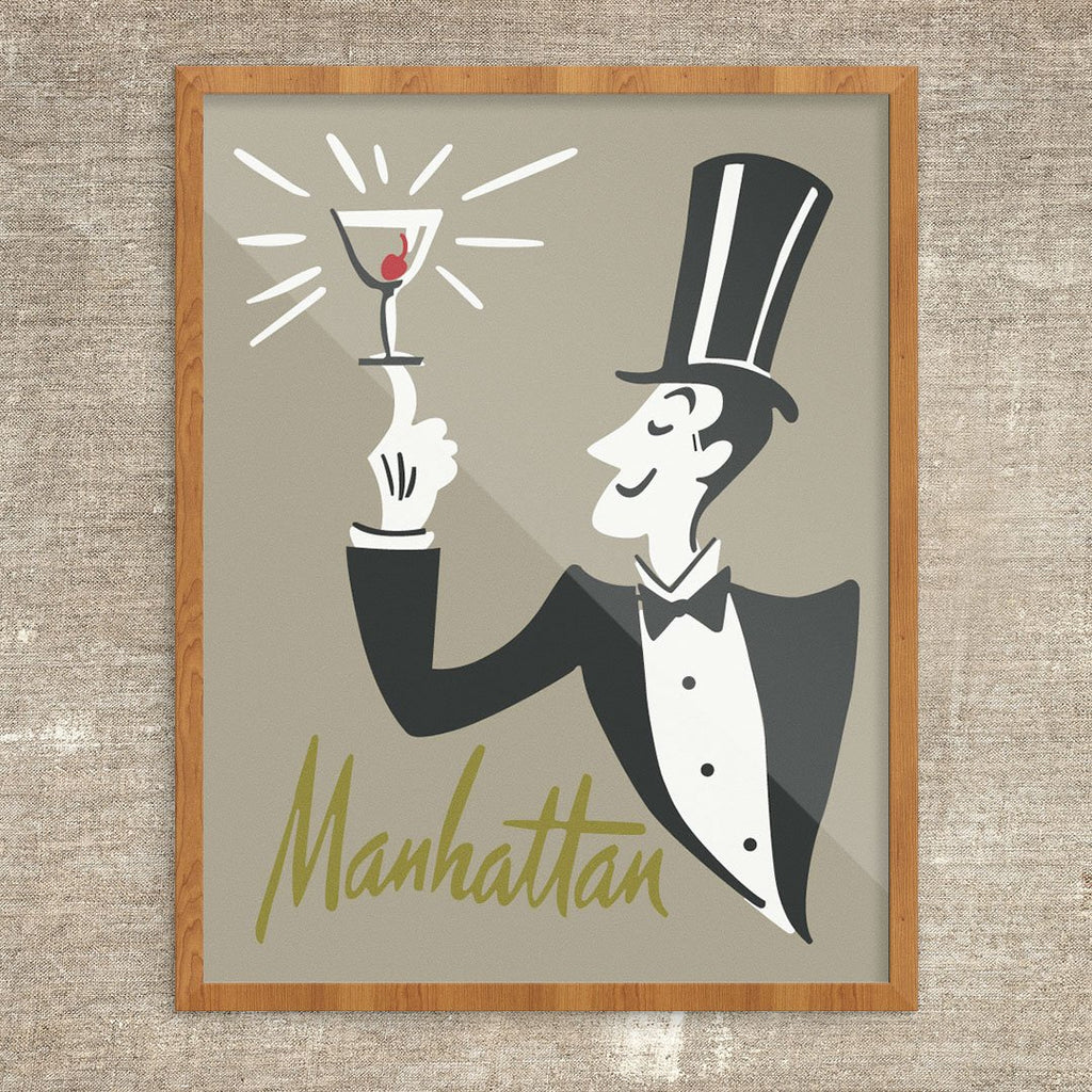 The Manhattan is Served Print