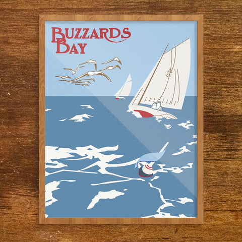 Buzzards Bay Mass Sailboats Print