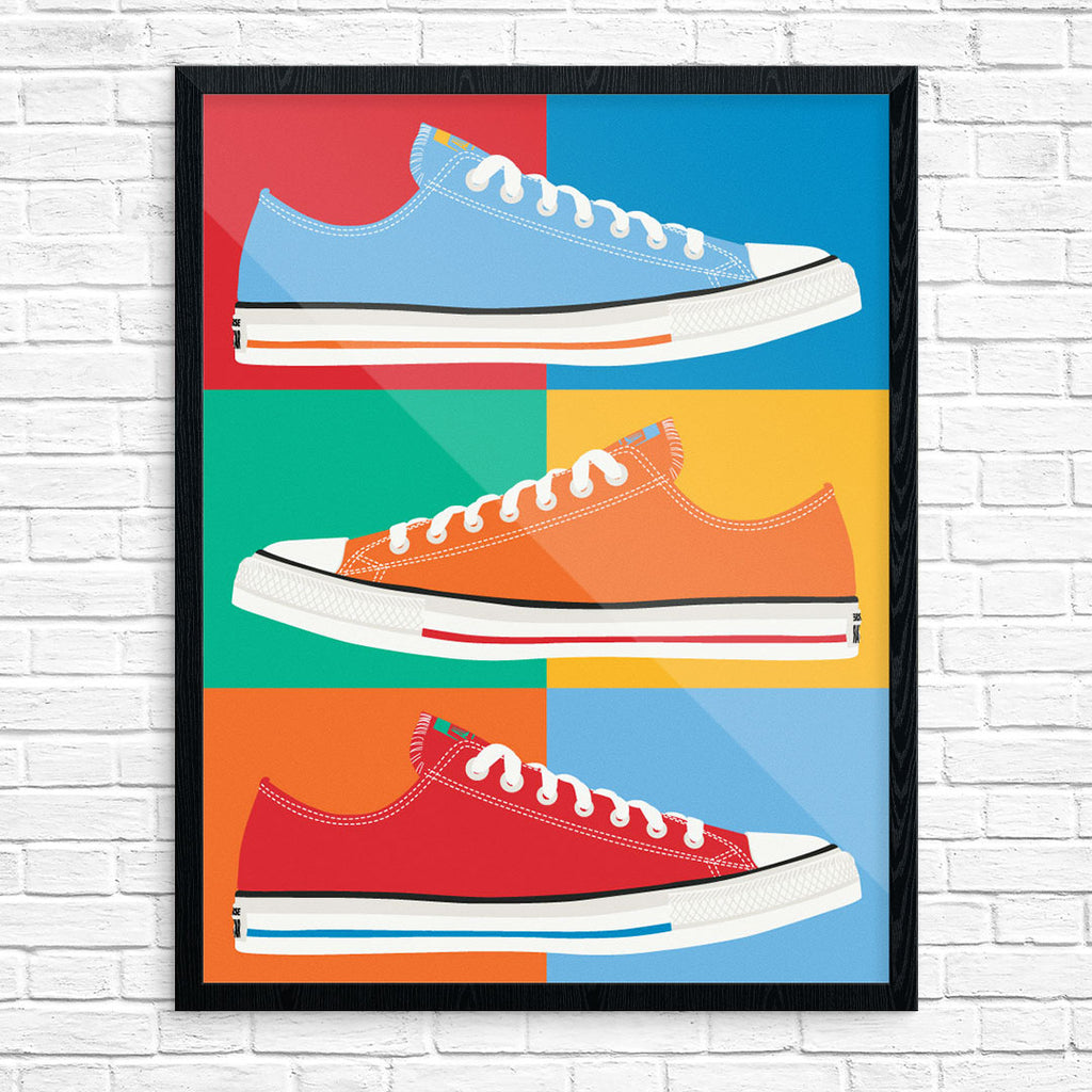 Colorful Chuck Taylor All Stars Collage Print