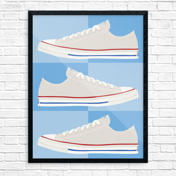 Chuck Taylor All Stars Red, White & Blues Print