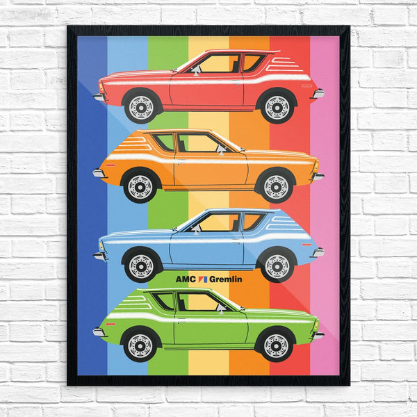 AMC Gremlin Car Colorful Collage print