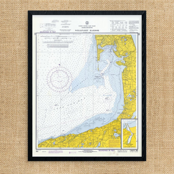 Wellfleet Harbor Nautical Chart Print