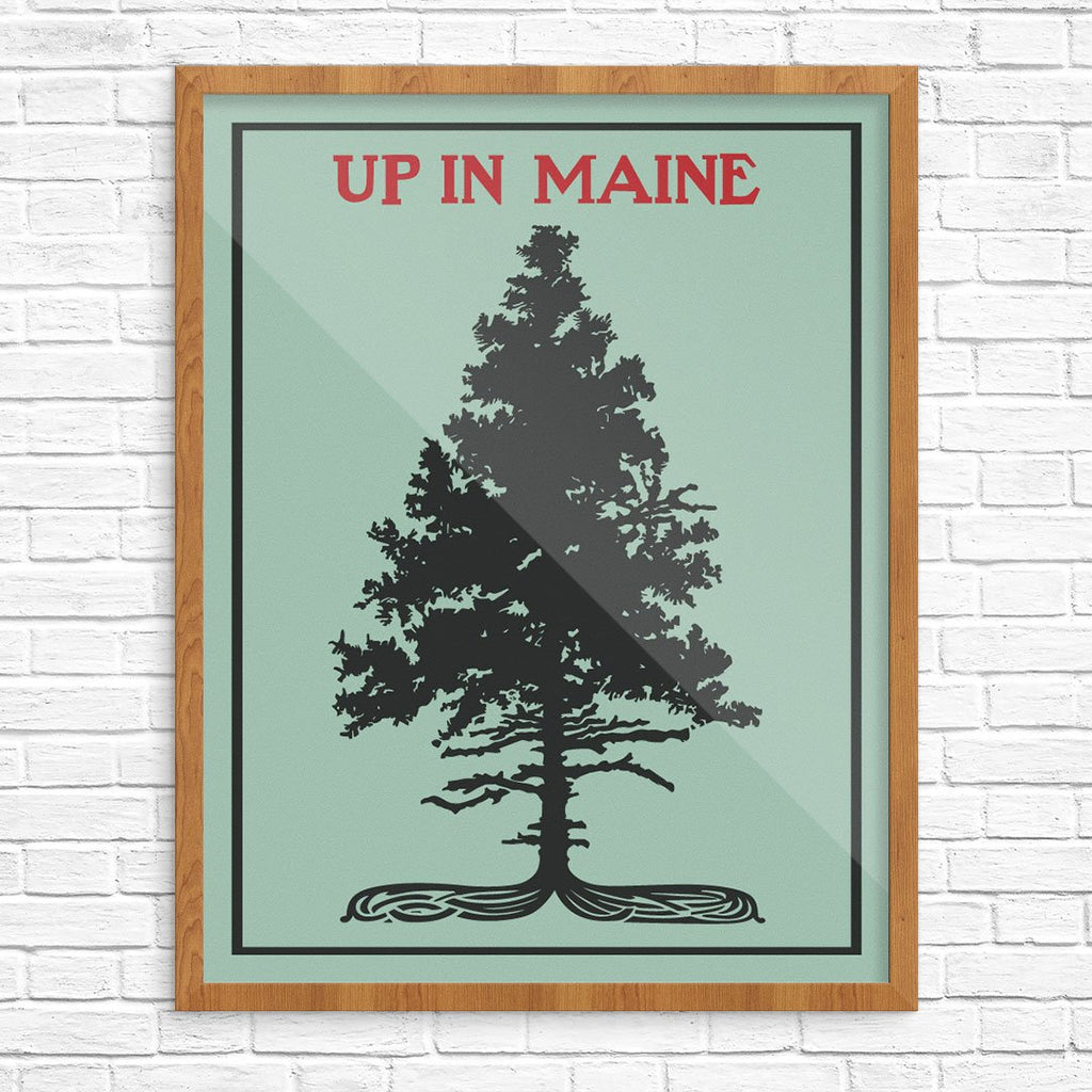 Up In Maine Pine Tree Print