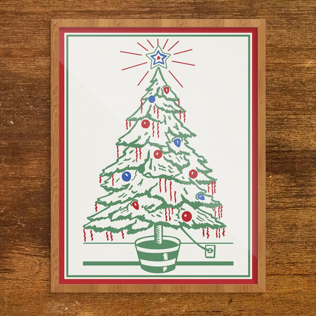 Plugged In Christmas Tree Print