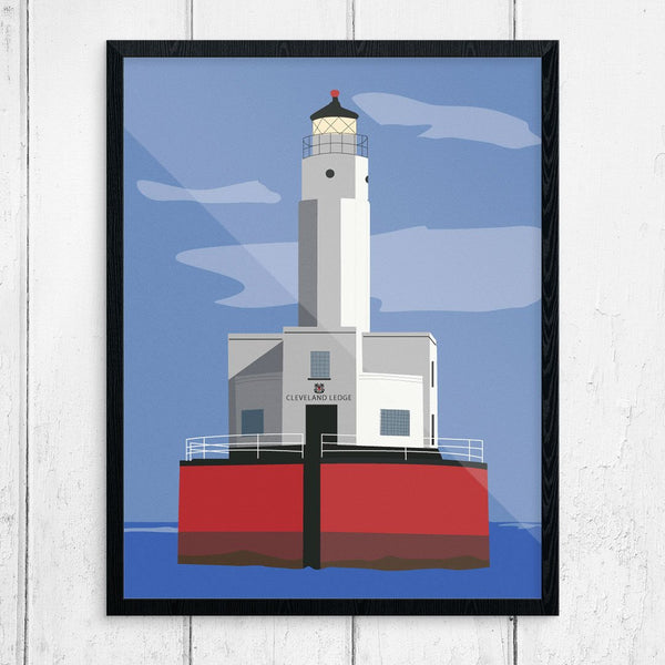 Cleveland Ledge Lighthouse Buzzards bay 11 x 14 Inch Print