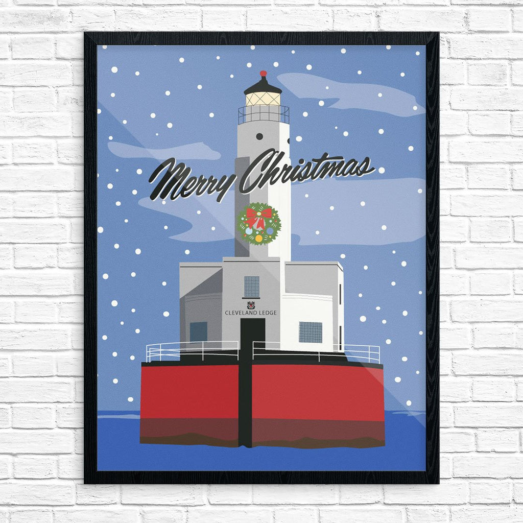 Cleveland Ledge Light Merry Christmas Card