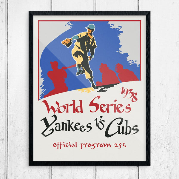 Yankee's Vs Cubs 1938 World Series Program Cover Print
