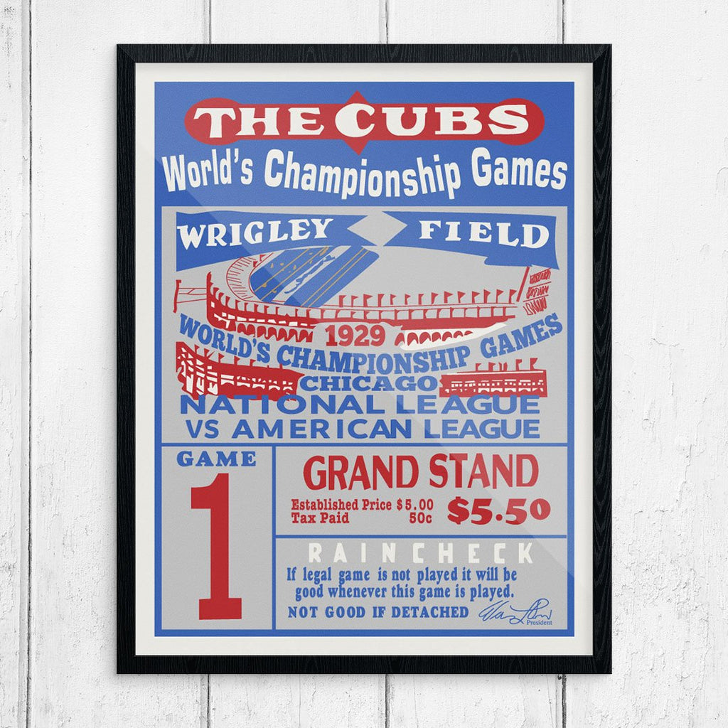 The Cubs 1929 World Series Game 1 Ticket Print